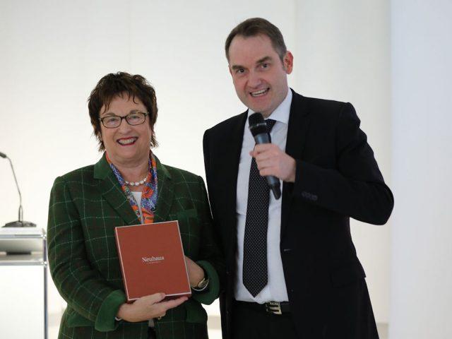 Präsident Grün dankt Bundeswministerin Zypries