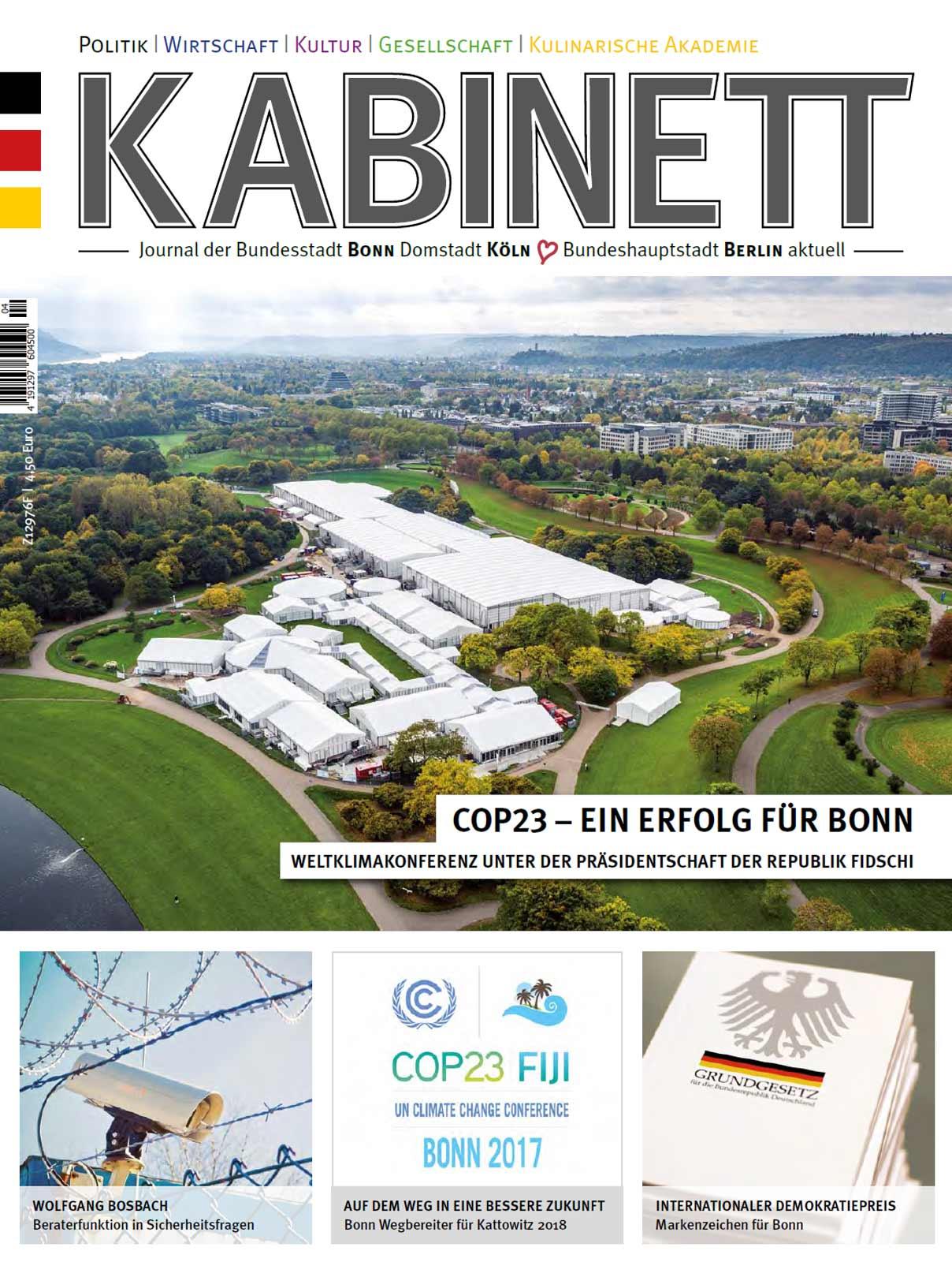 Kabinett-Journal: COP23 - Ein Erfolg für Bonn.
