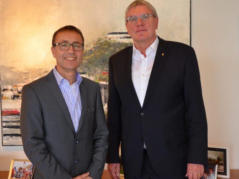 Landrat Schuster und Sozialdezernent Dieter Schmitz